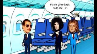 Queen Cartoons-Episode 3 Queen in a plane