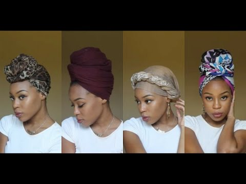 4 Quick & EASY Headwrap Turban Styles Short Natural Hair & TWA Friendly