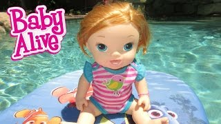 BABY ALIVE Name Reveal & Annie Goes Swimming... A Little Bit!