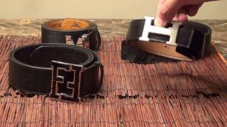 Which is better?!? 4 Designer Belt Quality Comparison (Hermes H Belt, Louis Vuitton, Fendi, and MCM)