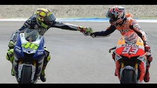VDEO LUCU Valentino Rossi dan Mark marquez berdamai