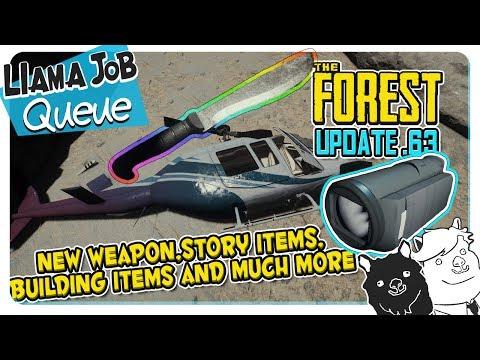 The Forest Update V0.63 Machete, Camcorder, Ziplines, Crane and Elevator