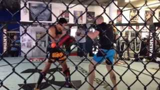 Georges St-Pierre GSP kills it with Muay Thai - UFC 167 training footage @ Tristar