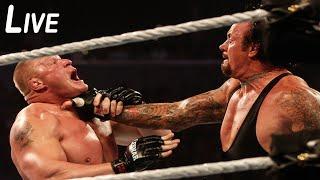 Brock Lesnar vs Seth Rollins vs Undertaker hd hell they nearly die