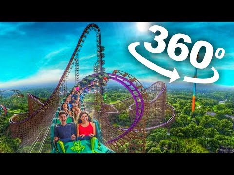 🔴 Real Life 360° Roller Coasters VR Videos 360 degree 4K Compilation
