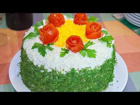 Печеночный торт с грибами и морковью рецепт с пошагово 137