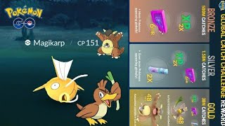 Travel Catch Challenge Results So Far - ANOTHER SHINY MAGIKARP!!! Pokemon GO