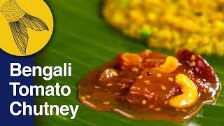 Tomato Chutney Recipe Bengali Style–Khejur Amsotto Tomato Chatni–Sweet-Sour Bengali Chutney Recipe