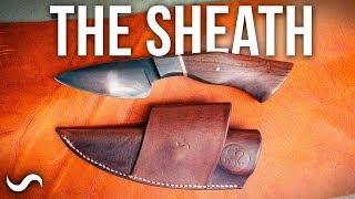 MAKING A LEATHER KNIFE SHEATH!!!