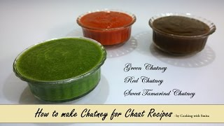 Chutney Recipe for Chaat (Bhel Puri / Sev Puri) in Hindi by Cooking with Smita