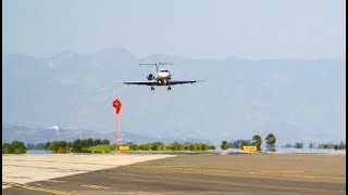 How the Legacy 500 operates in challenging airports: Santa Monica, CA