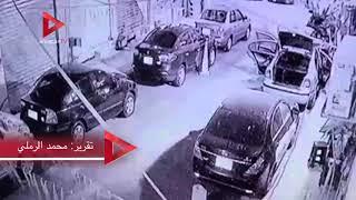 لحظة هروب المتورط في طعن سيدة أمام كنيسة بالإسكندرية