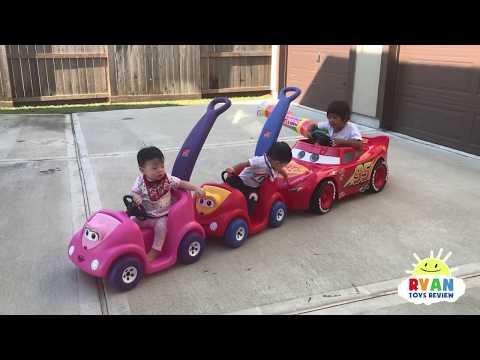 Xxx Mp4 Ryan 39 S Drive Thru Adventure With Lightning McQueen Power Wheels Ride On Car 3gp Sex