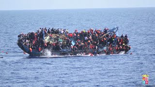 GoPro: Migrant boat capsizes in Med, 500 Libyans fight for lives amid Italian navy rescue op