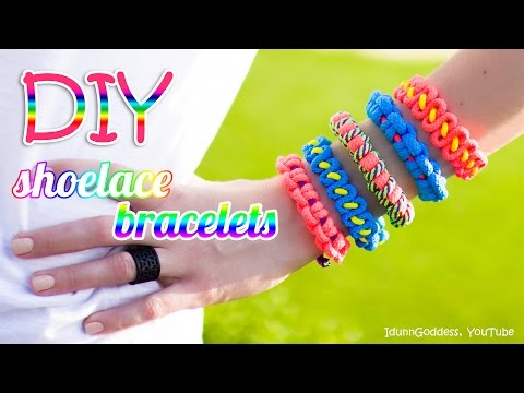 3 DIY Shoelace Bracelets – How To Make A Bracelet Out Of A Shoelace (tutorial)
