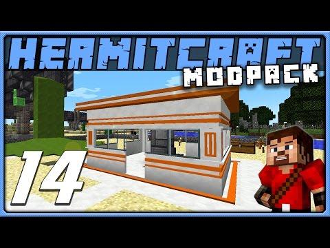 HermitPack Ep 14 BIOHAZARD BURGER SHACK Minecraft 1.10 Modded