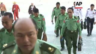MPs arrive for opening of Myanmar parliament