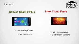 Micromax Spark 2 Plus vs Intex Cloud Fame