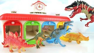 Learn Names of Dinosaurs With M&M Tayo Spider! Giant Dinosaur Eggs 4D Puzzle, Jurassic world Toys!