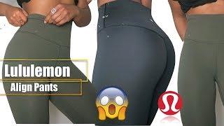LEGGING REVIEW & TRY ON LULULEMON| Align Pants