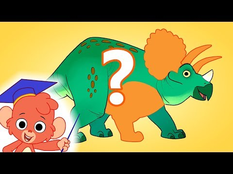 Learn Dinosaur Names | Triceratops Turn and Learn | jurassic dinosaurs cartoon for children