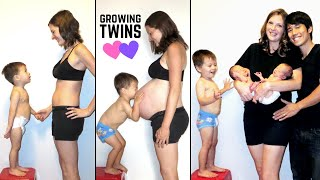 Twin Pregnancy Belly Progression (Stop Motion TIME LAPSE)