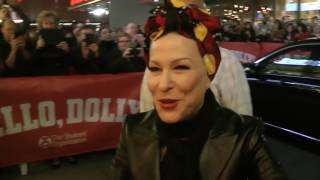 Bette Midler - Hello Dolly - Meeting her fans outside stage door Saturday 13th May 2017. HD.