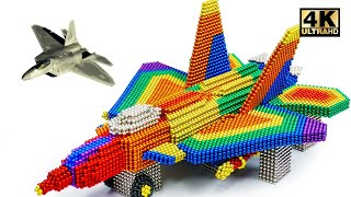 How To Make Lockheed Martin F-22 Raptor From Magnetic Balls (Satisfying) | Magnet World Series