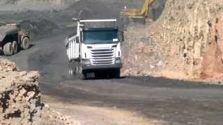 Scania mining truck in pit