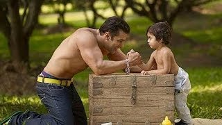 Salman Khan shoots for a SPECIAL ad with his nephew