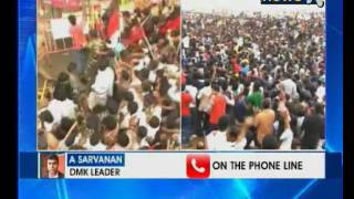 Day 4 of protests at Marina Beach in Chennai, protesters demands ordinance on jallikattu