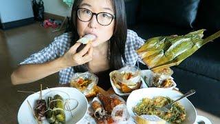 THAI STREET FOOD MUKBANG ● filmed in Bangkok at my loft
