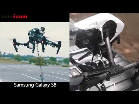 AGM X1 vs Samsung Galaxy S8 Drop Test from 1000 Feet!!   Test with Drone