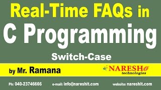 Switch-Case | C Technical Interview Questions and Answers | Mr. Ramana
