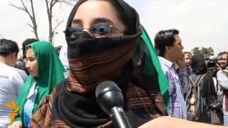 تظاهرات زنان در کابل