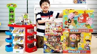 뉴욕이 소풍 준비 깜빡한 뉴맘 콩순이 삼각김밥 도시락세트 장난감 덕분에 해결했어요 뉴욕이랑 놀자 Making Lunch Box Toy Set NY Toys