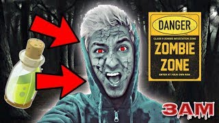 DO NOT DRINK ZOMBIE POTION AT 3AM!! *ZOMBIE CHALLENGE*