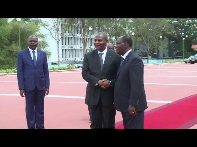 Le PR centrafricain Faustin Archange Touadera en Côte d'Ivoire