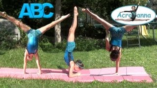 Alphabet Gymnastics | Annie the Gymnast | Acroanna