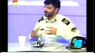 شجاعت حسنی برنامه ساز در ایران در برابر یک سردار سرکوب