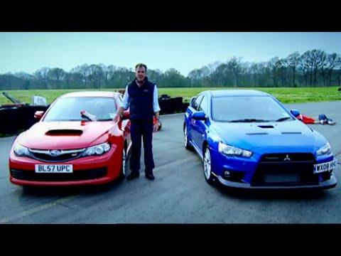 Mitsubishi Evo vs. Subaru Impreza HQ Top Gear BBC