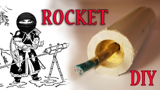 How to make a rocket. Simple nozzleless rocket.
