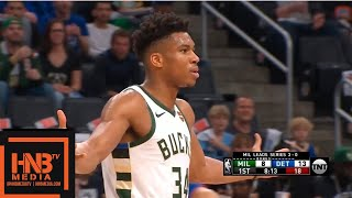 Milwaukee Bucks vs Detroit Pistons - Game 4 - 1st Qtr Highlights | April 22, 2019 NBA Playoffs