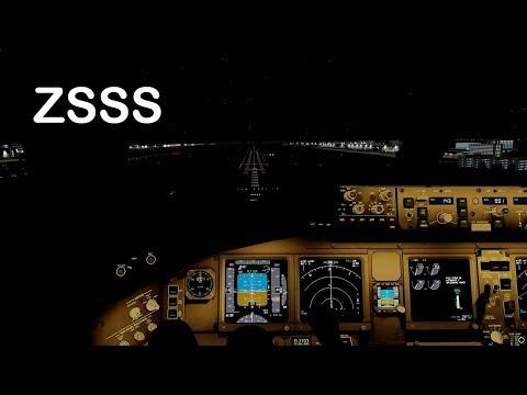 Download Prepar3D v4 -PMDG 777-200 ILS approch ZSSS at night HD Mp4 3GP Video and MP3