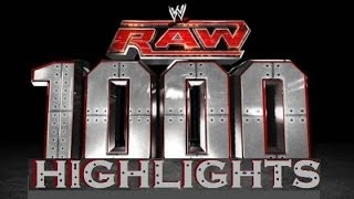 WWE RAW 1000 Highlights + RAW 1000 Intro