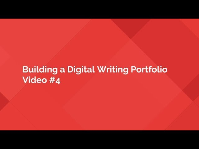 Writing Portfolio with Classic Google Sites on an iPad (Video #4)