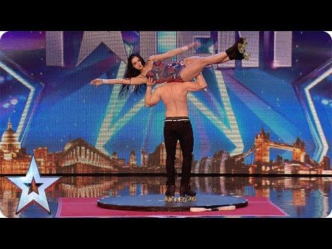 Xxx Mp4 Roller Skaters Billy And Emily Are Wheelie Good Audition Week 1 Britain 39 S Got Talent 2015 3gp Sex