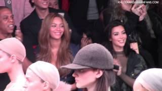 Khloe Kardashian, Kim Kardashian, Beyonce at Adidas - Front Row