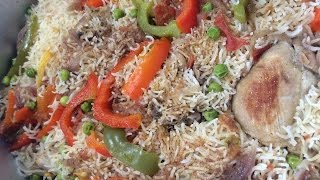 """ CHICKEN & VEGETABLE PULAO "" Bajias Cooking"