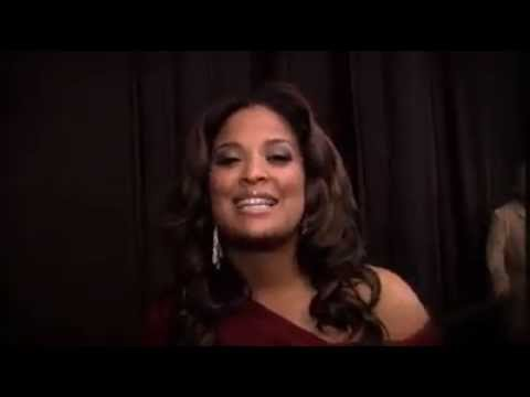 Laila Ali Backstage at the Red Dress Fashion Show 2014 EXCLUSIVE
